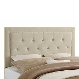Linon Bentley Beige Linen Headboard