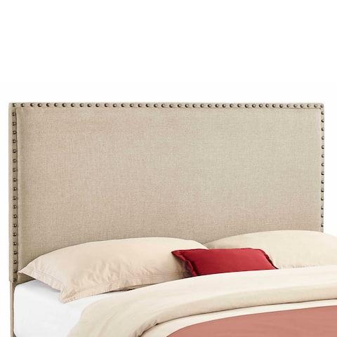 Linon Modernistic Beige Linen Headboard