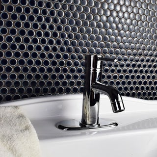 SomerTile 12x12.625-inch Penny Noir Porcelain Mosaic Floor and Wall Tile (10 tiles/10.74 sqft.)