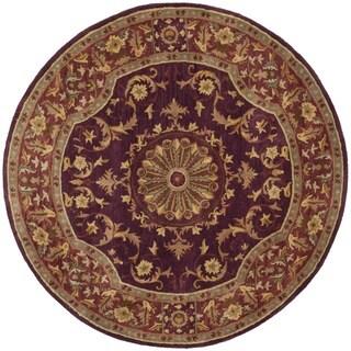 Safavieh Handmade Empire Dani Traditional Oriental Wool Rug (36 x 36 Round - Burgundy)