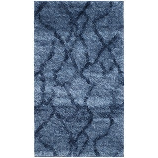 Safavieh Retro Modern Abstract Blue/ Dark Blue Rug (2'6 x 4')