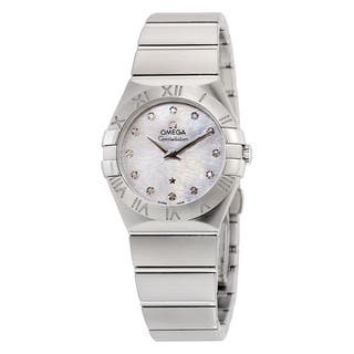 Omega Women's 12310276055004 Constellation White MOP Watch|https://ak1.ostkcdn.com/images/products/10905948/P17938278.jpg?impolicy=medium