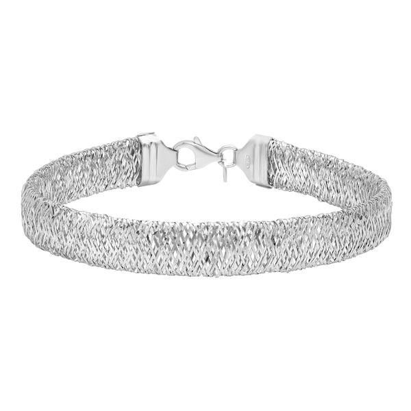 Italian Sterling Silver Mesh Bracelet