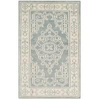 Safavieh Hand-Knotted Kenya Ivory/ Blue Wool Rug - 3' x 5'