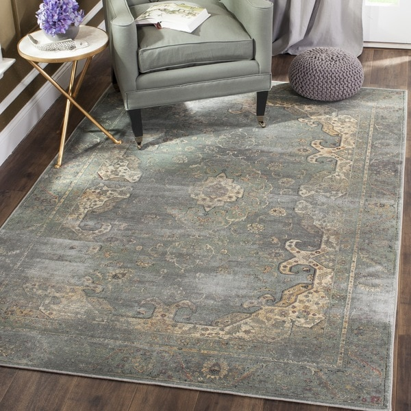 Safavieh Vintage Oriental Grey Multi Distressed Silky Viscose Rug 3 X27