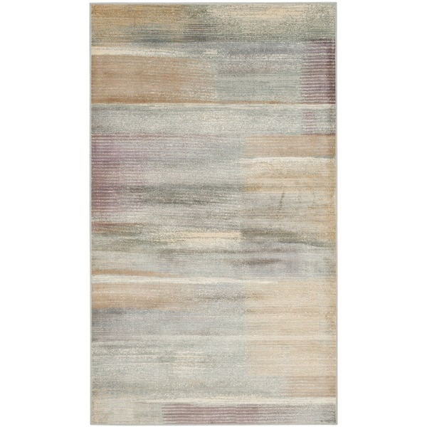 Safavieh Vintage Modern Abstract Light Blue Distressed Silky Viscose Rug (3' 3 x 5' 7)