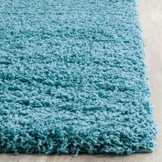 Safavieh Laguna Shag Turquoise Rug (3' x 5')