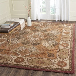 Safavieh Handmade Heritage Timeless Traditional Rust/ Ivory Wool Rug (4' x 6')