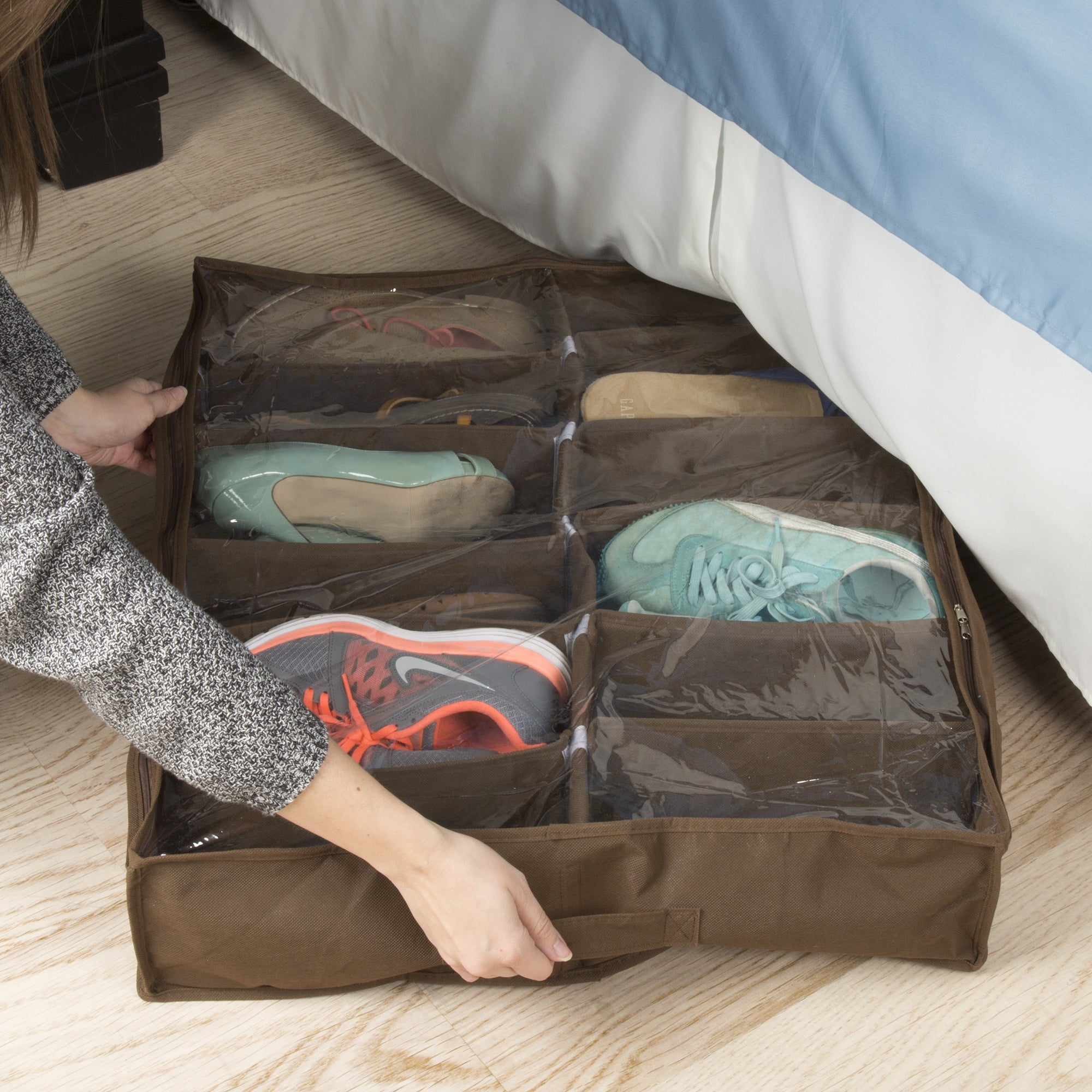 Everyday Home Premium Quality Under the Bed 12 Shoe Storage Solution (Shoe Storage)