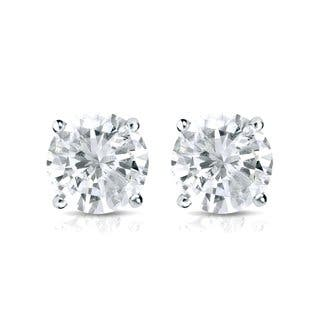 Auriya Platinum 1ct TDW 4-Prong Screw-Back Round Diamond Stud Earrings (J-K, SI2-SI3)|https://ak1.ostkcdn.com/images/products/10906155/P17938529.jpg?impolicy=medium