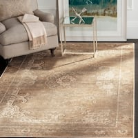 Safavieh Vintage Oriental Mouse Brown Distressed Silky Viscose Rug (4' x 5'7)