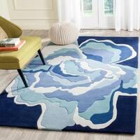 Safavieh Handmade Allure Mediterranean/ Blue Wool Rug - 4' x 6'