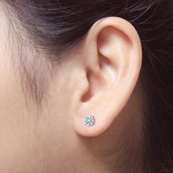Auriya Round Diamond Stud Earrings 3 4 Carat Tw 18k