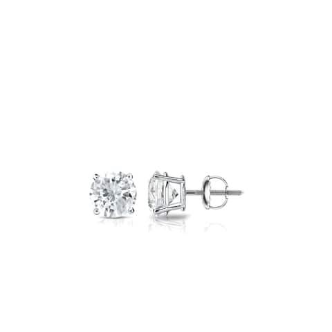 Auriya 0.25ctw Round Diamond Stud Earrings 18k Gold
