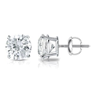 Auriya 14k Gold 1/2ct TDW Round Diamond Solitaire Stud Earrings (3 options available)