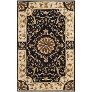 Safavieh Handmade Empire Dani Traditional Oriental Wool Rug (3 x 5 - Black/Ivory)