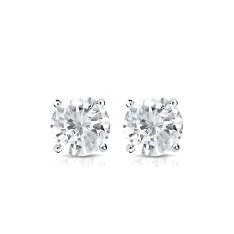 Auriya Round Diamond Stud Earrings 0.50 carat TW Platinum