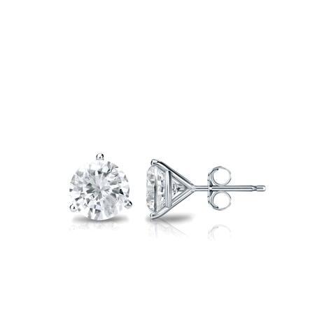 Auriya 1/2ctw Round Diamond Stud Earrings 14k Gold Martini-set