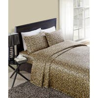 VCNY Celesta Leopard Satin Sheet Set