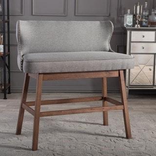 Traditional Grey Fabric Bar Stool by Baxton Studio