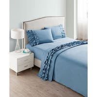 VCNY Ruffled 4-piece Sheet Set