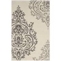 Isaac Mizrahi by Safavieh Handmade Damask Ivory/ Grey Wool Rug - 5' x 8'