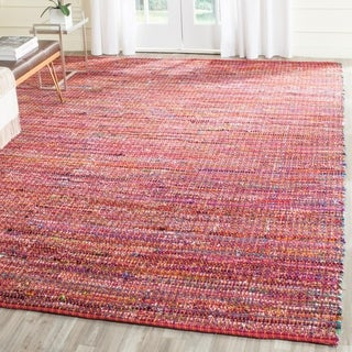 Safavieh Handmade Nantucket Red Multicolored Cotton Rug (5' x 8')