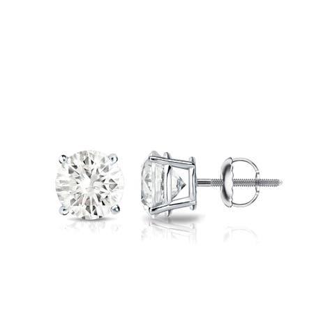 Auriya 0.75ctw Round Diamond Stud Earrings 18k Gold