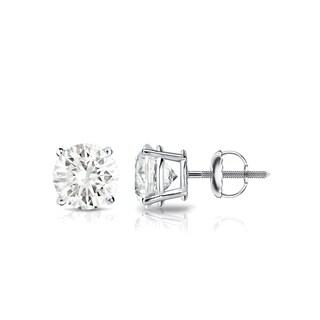 18KT Gold Round 3/4ct TDW Round Diamond Stud Earrings by Auriya - 0.75ct - White J-K
