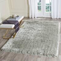 Safavieh Handmade Plush Memory Foam Shag Silver Polyester Rug (5' x 8') - 5' x 8'