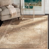 Safavieh Vintage Oriental Mouse Brown Distressed Silky Viscose Rug - 5'3 X 7'6
