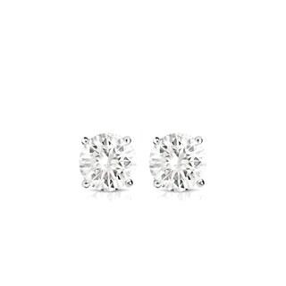 Auriya 14k Gold 1/4ct TDW 4-Prong Screw-Back Round Diamond Stud Earrings (J-K, SI1-SI2)