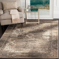 Safavieh Vintage Oriental Soft Anthracite Distressed Silky Viscose Rug - 5'3 x 7'6