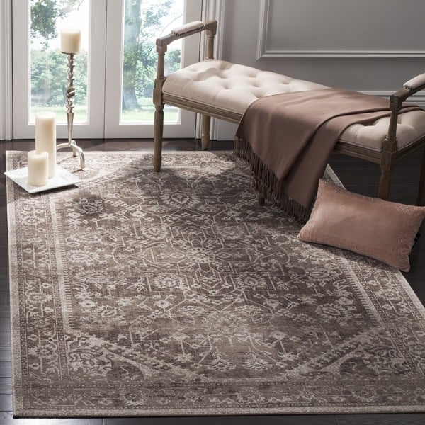 Safavieh Artisan Vintage Brown/ Ivory Distressed Area Rug - 5'1 x 7'6