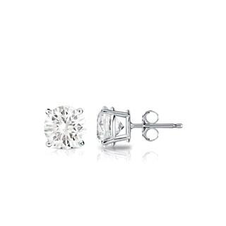 Auriya 14k Gold 3/5ct TDW 4-Prong Push-Back Round Diamond Stud Earrings (J-K, SI1-SI2)