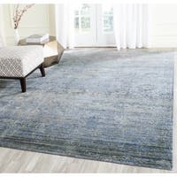 Safavieh Mystique Watercolor Serene Blue/ Multi Silky Rug - 5' x 8'