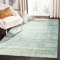 Safavieh Mystique Watercolor Green/ Multi Silky Rug - 5' x 8'