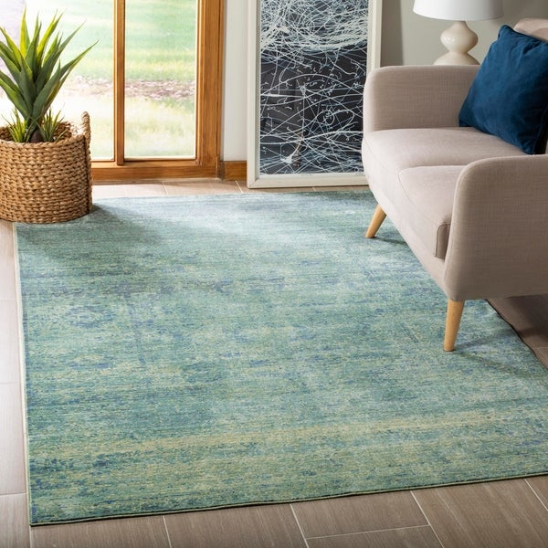 Shop Safavieh Mystique Watercolor Green/ Multi Silky Rug