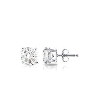 Auriya Platinum 1 2ctw Round Solitaire Diamond Stud Earrings