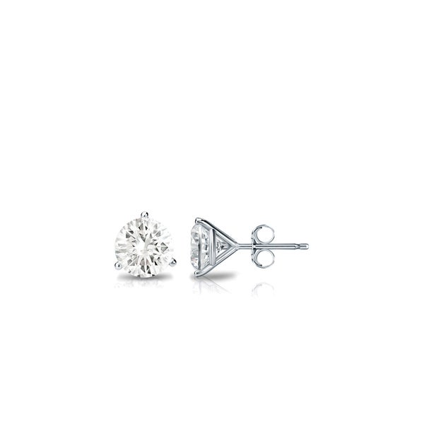 a676bebf6042fe Auriya 14k Gold 1/4ctw Round 3-Prong Martini Diamond Stud Earrings
