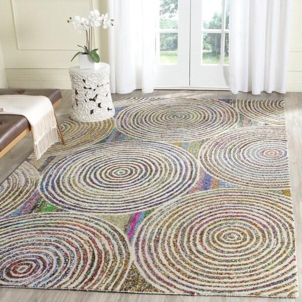 Safavieh Handmade Nantucket Modern Abstract Beige Cotton Rug (6' x 9')