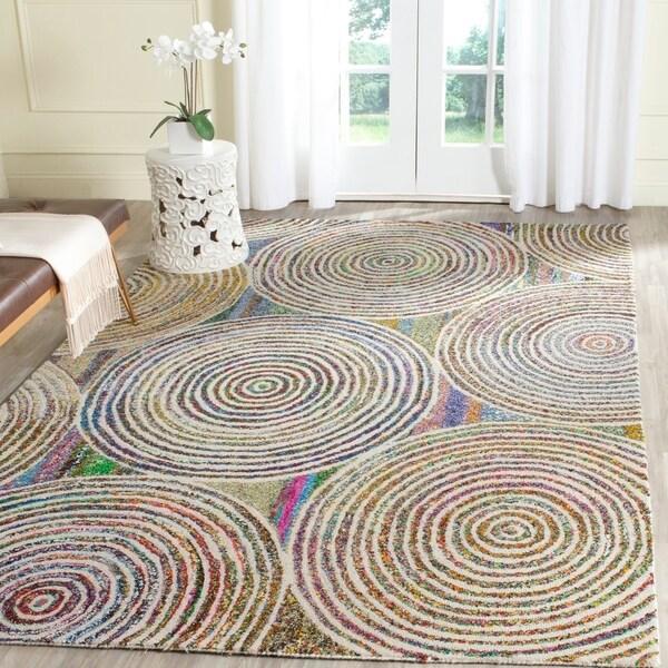 Safavieh Handmade Nantucket Modern Abstract Beige Cotton Rug - 6' x 9'
