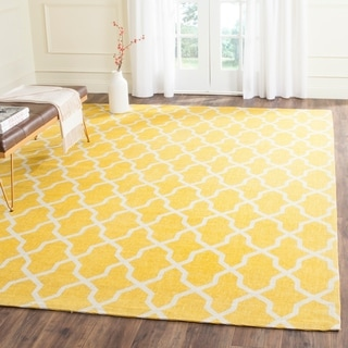 Safavieh Handmade Cedar Brook Yellow/ Ivory Jute Rug (8' x 10')
