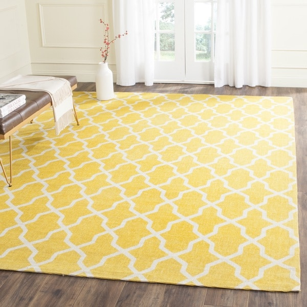Safavieh Handmade Cedar Brook Yellow/ Ivory Jute Rug (8' x 10') - 8' x 10'