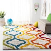 Safavieh Kids Shag Ivory/ Multi Rainbow Rug - 8' x 10'