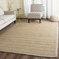 Safavieh Casual Natural Fiber Natural / Grey Seagrass Area Rug - 8' x 10'