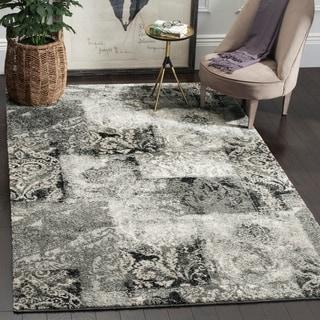 Safavieh Retro Modern Abstract Damask Cream/ Grey Distressed Rug (8' x 10')