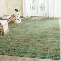 Safavieh Handmade Nantucket Green Multicolored Cotton Rug - 8' x 10'