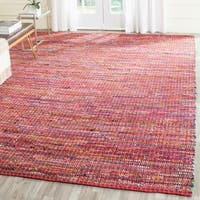 Safavieh Handmade Nantucket Red Multicolored Cotton Rug - 8' x 10'
