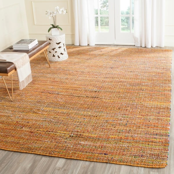 Safavieh Handmade Nantucket Yellow Multicolored Cotton Rug - 8' x 10'